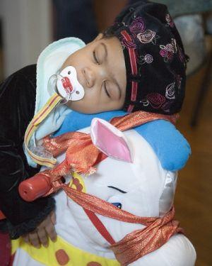 Nia Sleep On Her Horse Christmas Day 2005